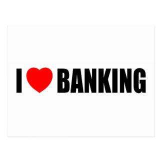I Love Banking Post Card