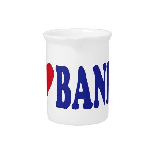 I Love Banks Drink Pitchers