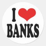 I Love Banks Stickers