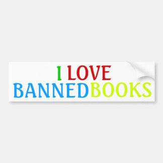 I, LOVE, BANNED, BOOKS CAR BUMPER STICKER