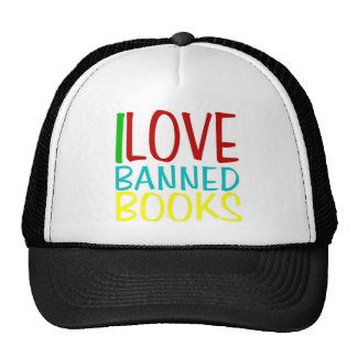 I LOVE BANNED BOOKS OFFICIAL CAP TRUCKER HAT