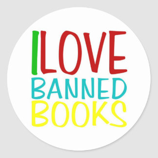 I LOVE BANNED BOOKS OFFICIAL STICKER