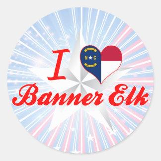 I Love Banner Elk, North Carolina Round Stickers