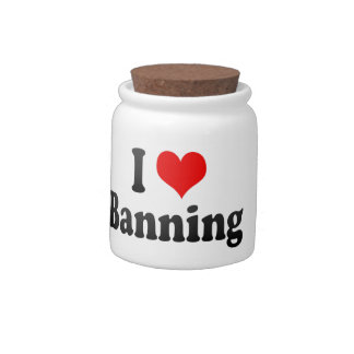 I Love Banning, United States Candy Jars