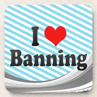 I Love Banning, United States Drink Coaster