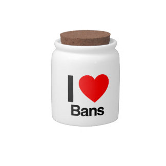 i love bans candy dishes