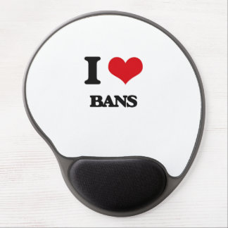 I Love Bans Gel Mouse Pad