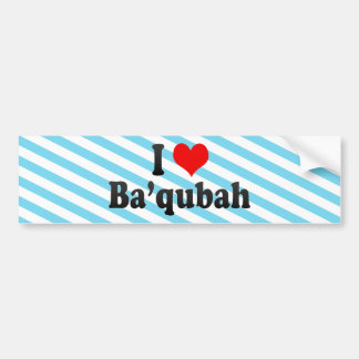 I Love Ba'qubah, Iraq Bumper Sticker