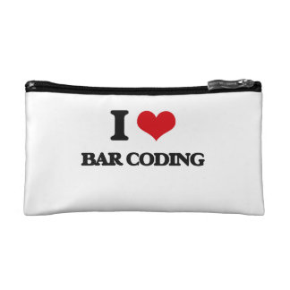 I Love Bar Coding Makeup Bag