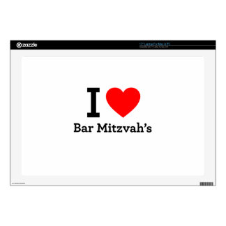 """I Love Bar Mitzvah's Decals For 17"""" Laptops"""