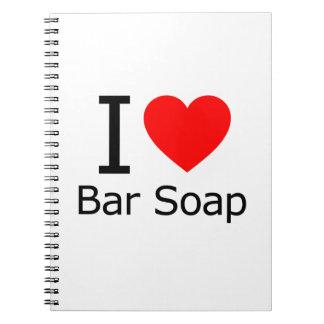 i Love Bar Soap Spiral Notebook