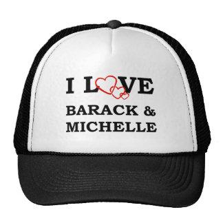 I Love Barack & Michelle Trucker Hat
