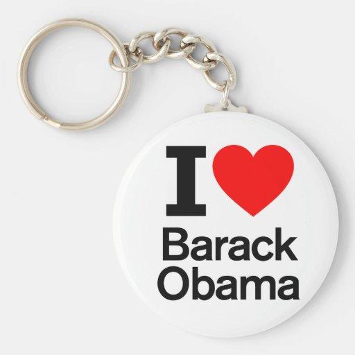 I Love Barack Obama Key Chain