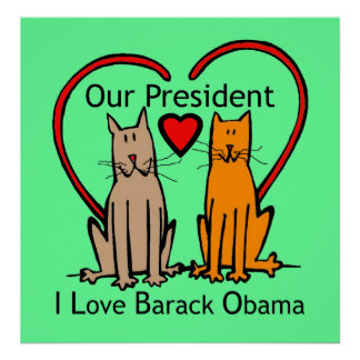 I LOVE BARACK OBAMA PRINT