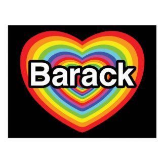 I love Barack Obama: rainbow heart Postcard
