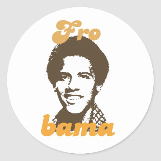 I Love Barack Obama Round Stickers