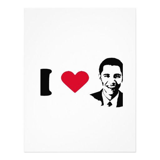 I Love Barack Obama T-shirt Letterhead
