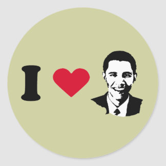 I Love Barack Obama T-shirt Stickers
