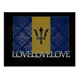 I love Barbados Cool Postcard