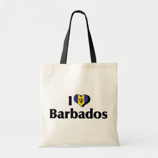 I Love Barbados Flag Tote Bag