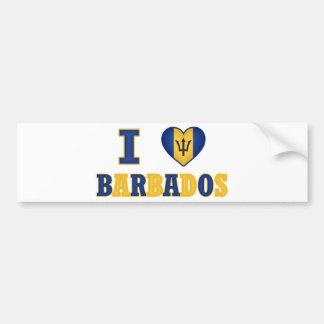 I Love Barbados Heart Flag Design Bumper Stickers