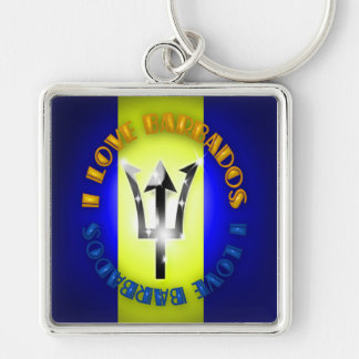 I love Barbados Keychain