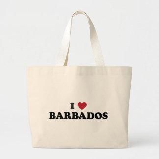 I Love Barbados Large Tote Bag