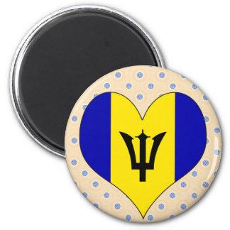 I Love Barbados Fridge Magnet