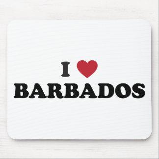 I Love Barbados Mouse Pad
