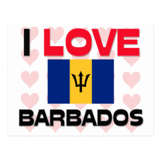 I Love Barbados Post Cards