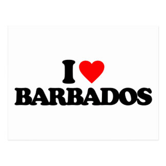 I LOVE BARBADOS POSTCARD