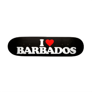 I LOVE BARBADOS SKATE BOARD DECK