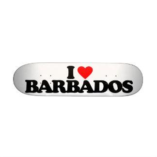 I LOVE BARBADOS SKATE BOARD DECKS