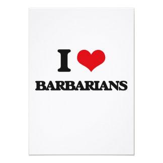 I Love Barbarians 5x7 Paper Invitation Card