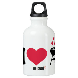 I love barbecue BBQ Aluminum Water Bottle