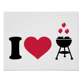 I love barbecue BBQ Posters