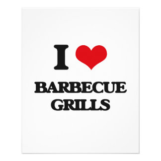 I Love Barbecue Grills Full Color Flyer