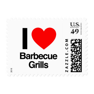 i love barbecue grills postage stamp