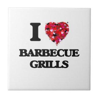 I Love Barbecue Grills Small Square Tile