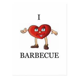 i love barbecue postcard