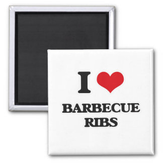 I Love  Barbecue Ribs Magnet