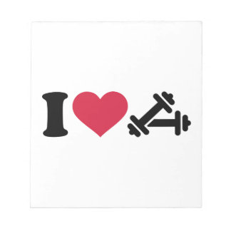 I love barbell dumbbell note pad