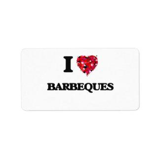 I Love Barbeques Address Label
