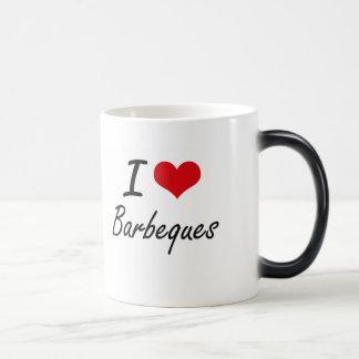 I Love Barbeques Artistic Design 11 Oz Magic Heat Color-Changing Coffee Mug