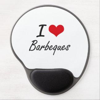 I Love Barbeques Artistic Design Gel Mouse Pad