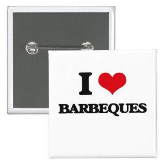I Love Barbeques 2 Inch Square Button