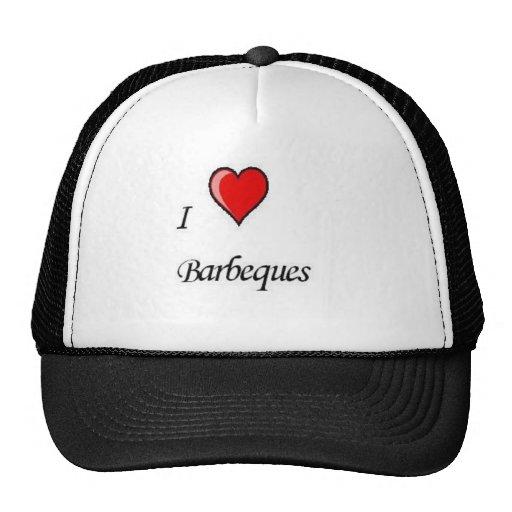 i love barbeques mesh hats