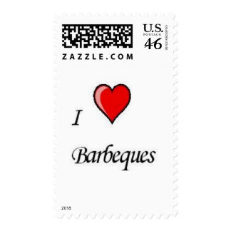 i love barbeques stamp