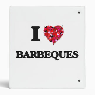 I Love Barbeques Vinyl Binder