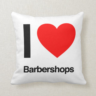 i love barbershops throw pillow